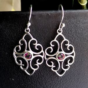 NWT Sterling Silver Mystic Topaz Lace Earrings